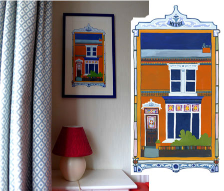 Photo of Bournville House painting in situ