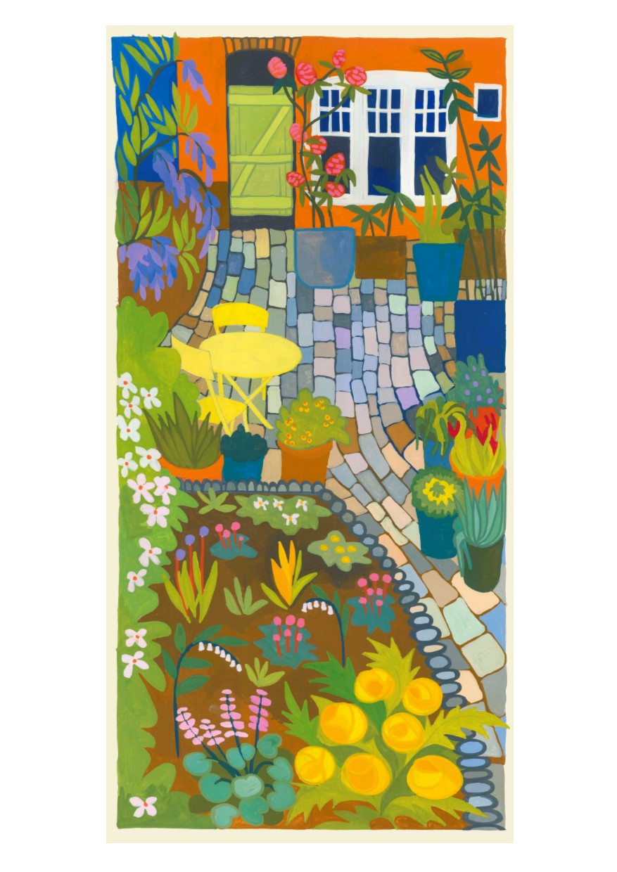Card of Cobbles and Plants
