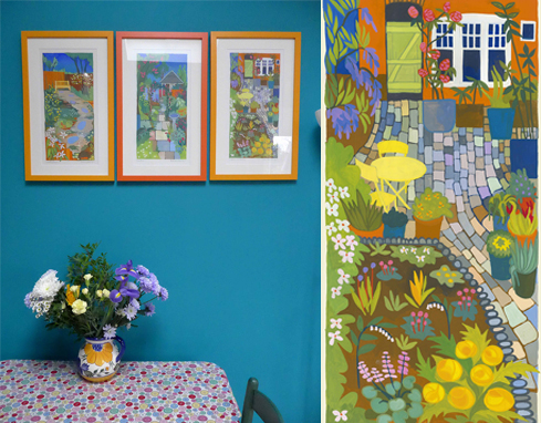 Photo of Cobbles and Plants painting in situ