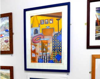 Photo of Yellow Room at Leicester Sketch Club exhibition