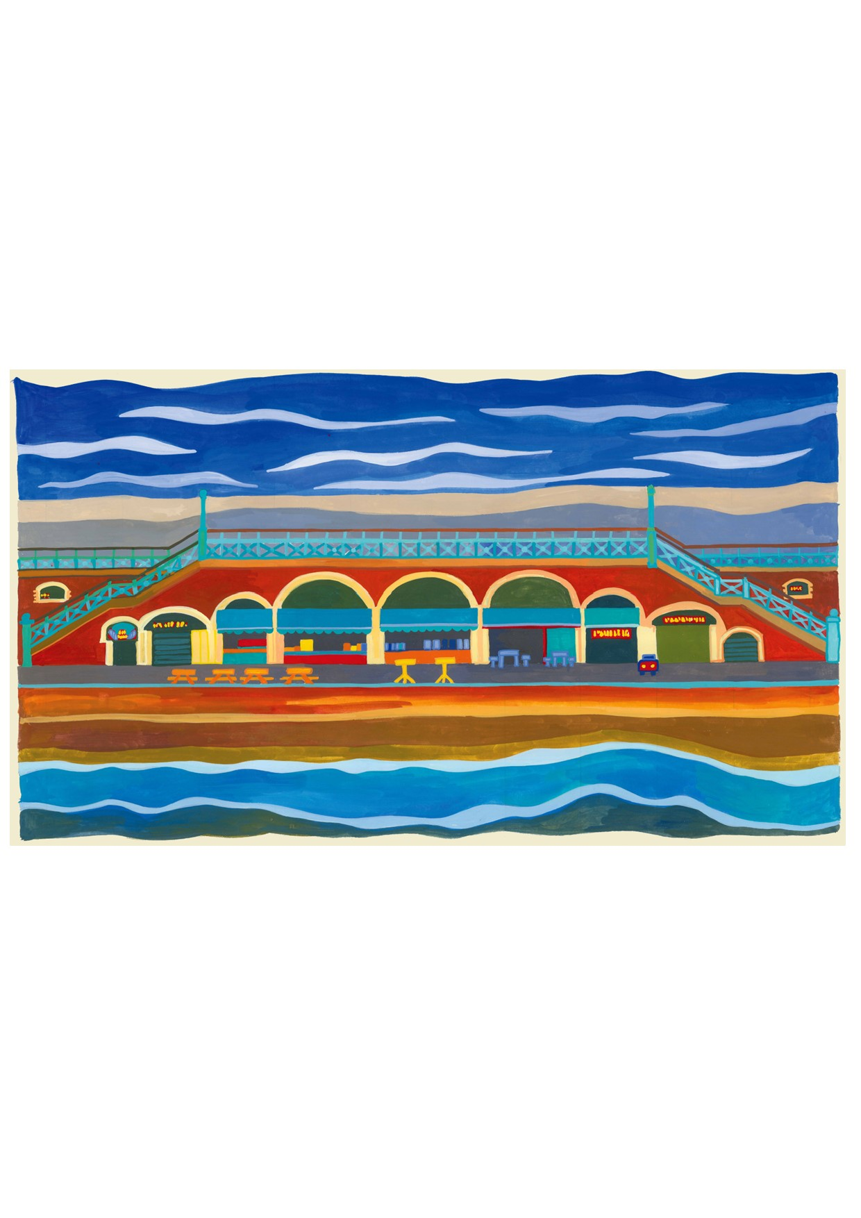 Painting of Brighton Seafront Arches