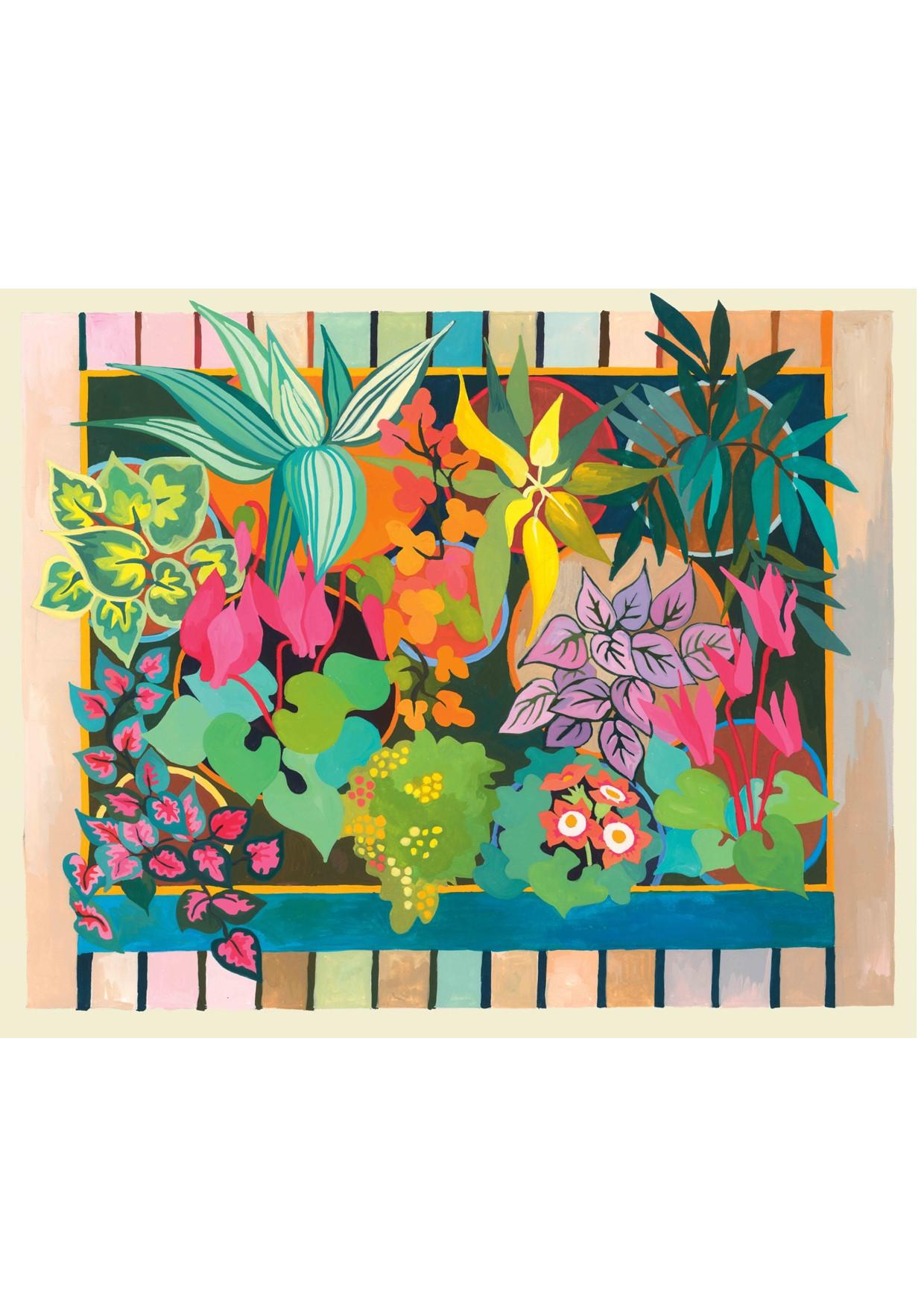 Painting of Florist Shop 1