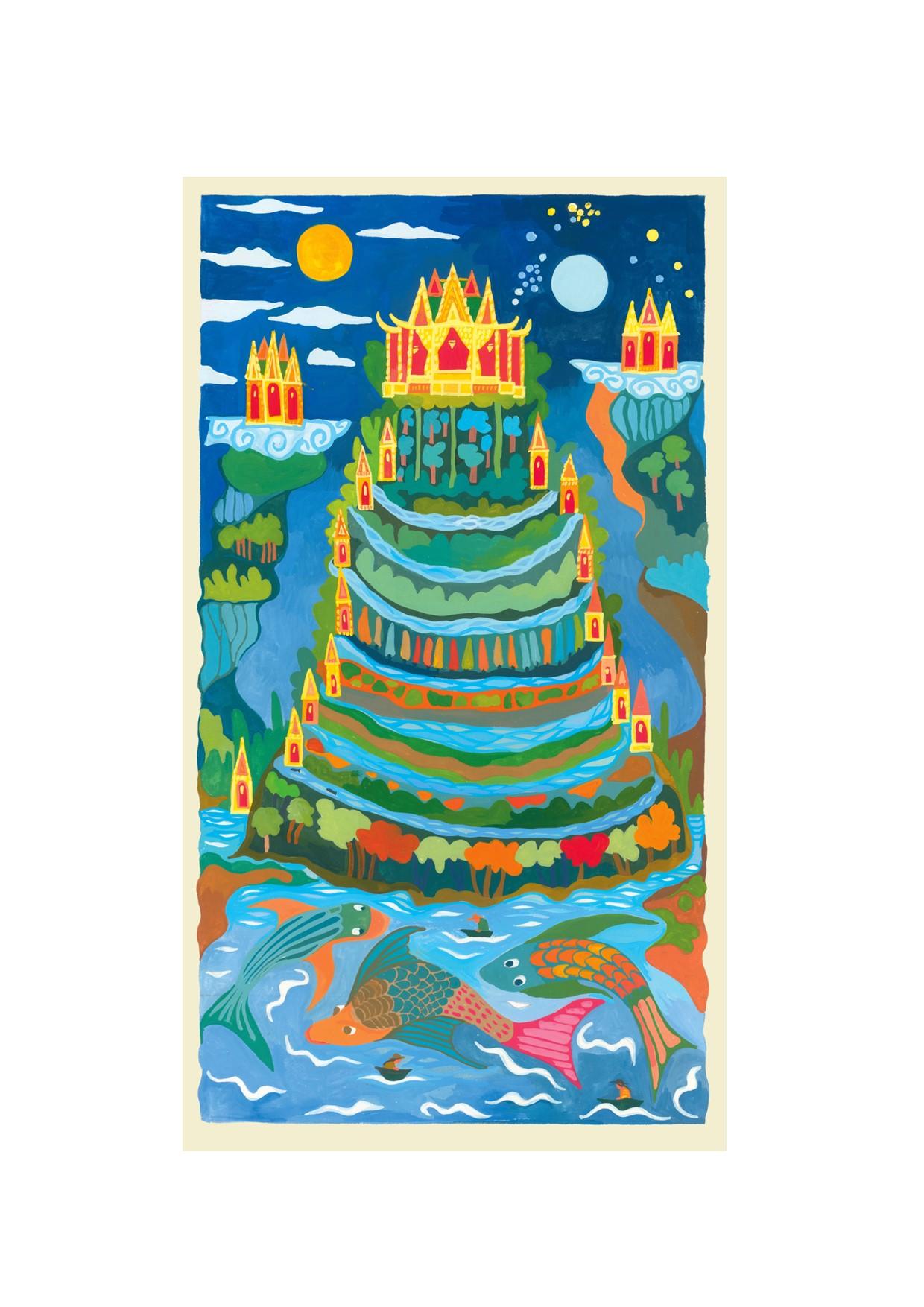 Painting of Mythical Mount Meru