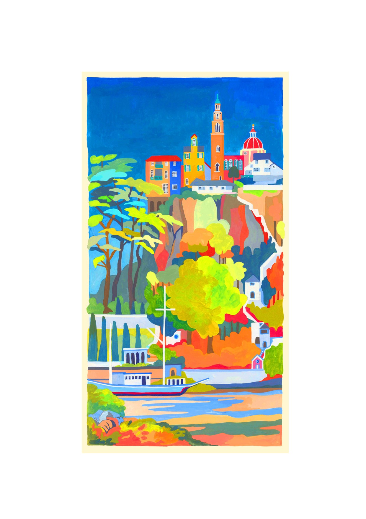 Painting of Portmeirion