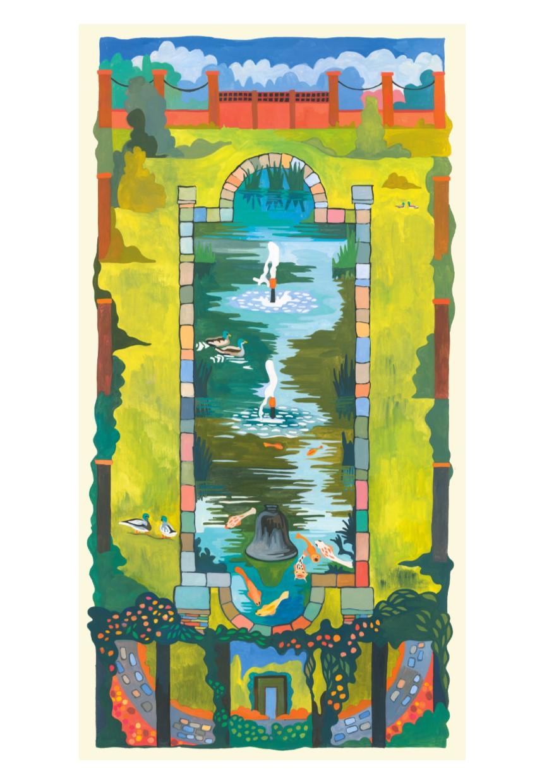 Painting of Water Garden