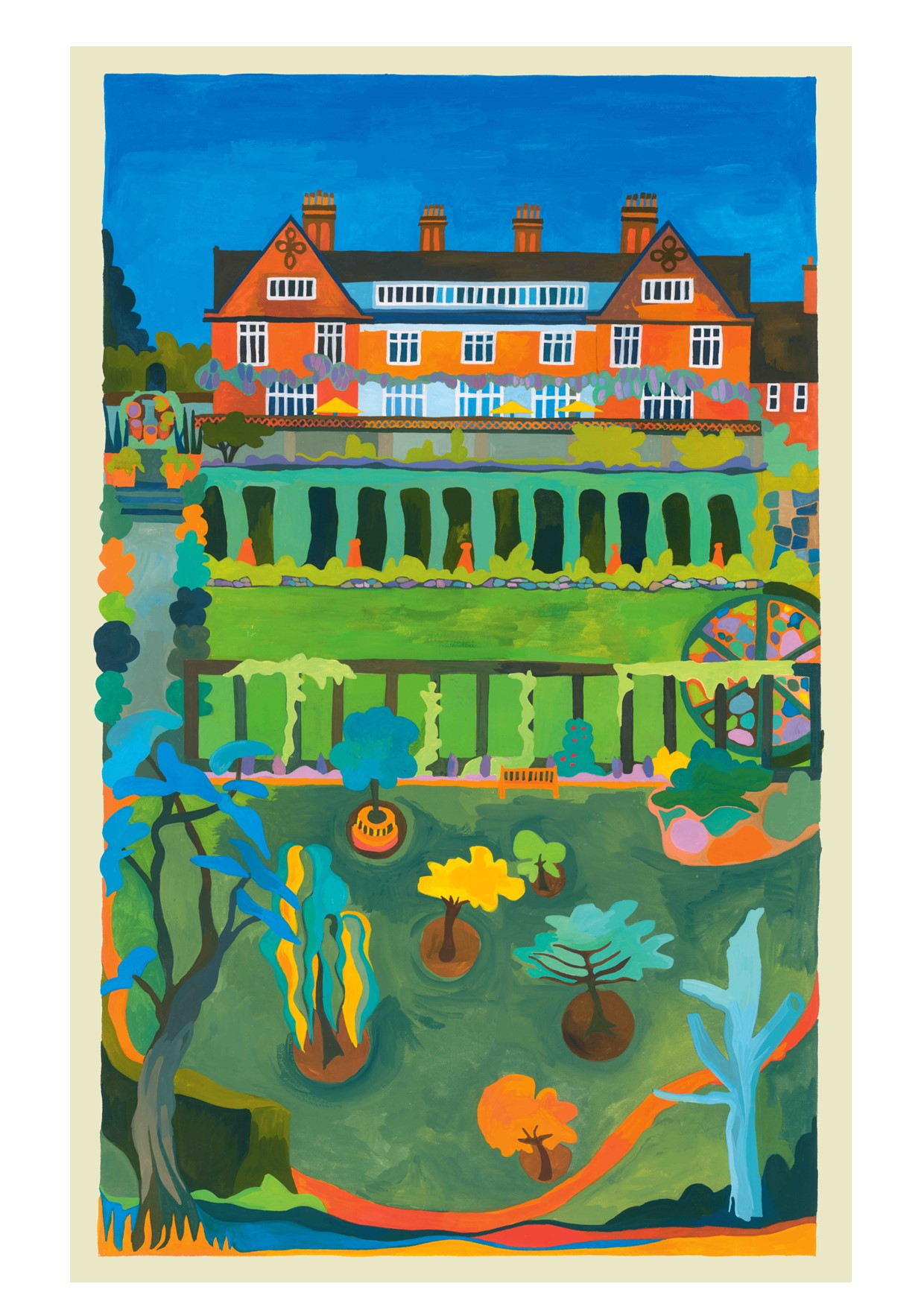 Painting of Winterbourne House and Garden