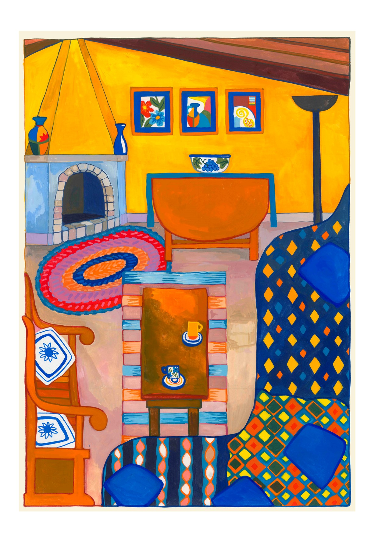 Painting of Yellow Room