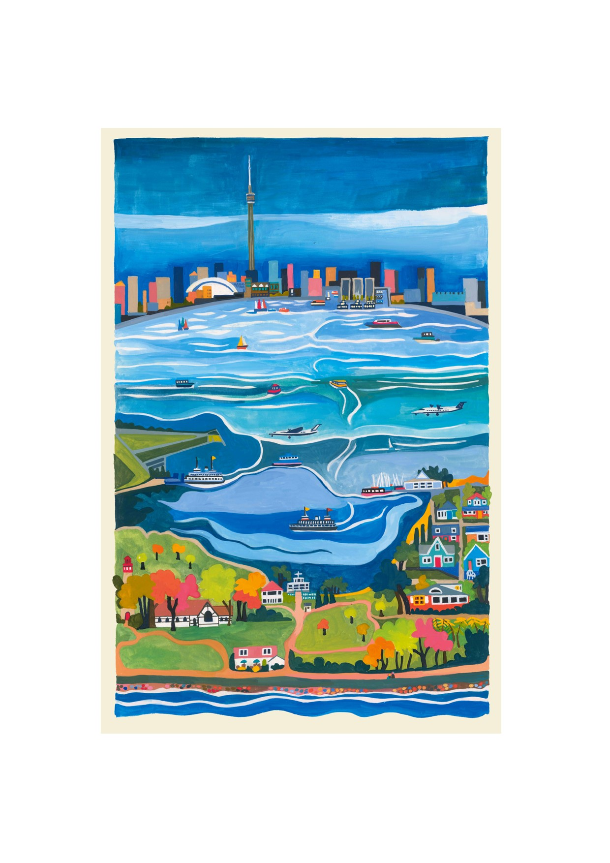 Painting of Toronto and the Islands