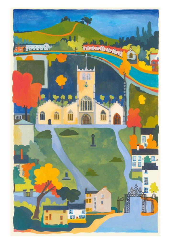 Card of Kendal Parish Church