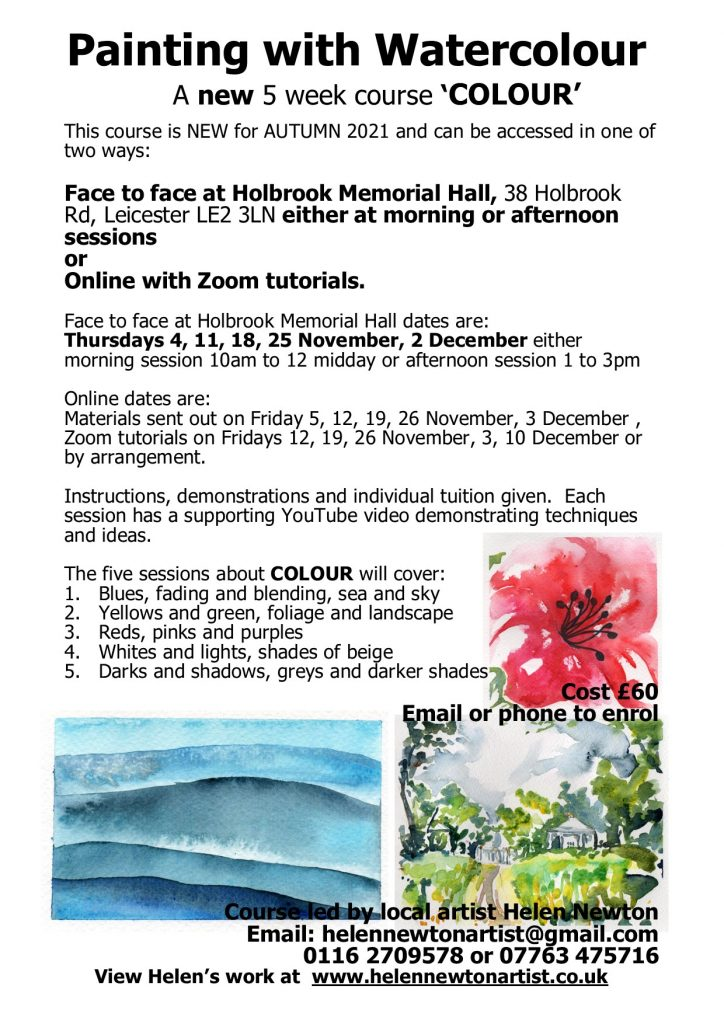 Link to PDF for Watercolour 5 week course on 'COLOUR'